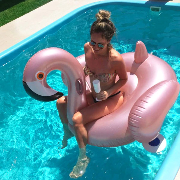 Giant Rose Gold Flamingo Float 2