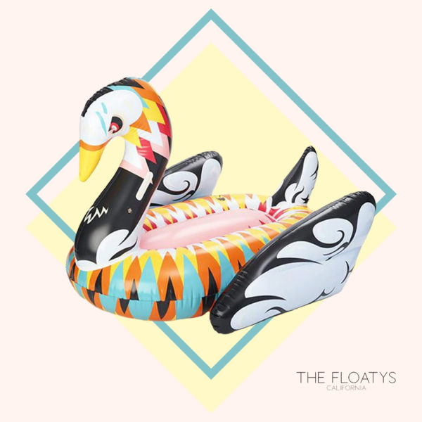 Giant Colorful Abstract Print Swan Float 1