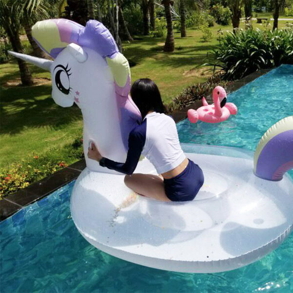 Giant Glitter Unicorn Float 2
