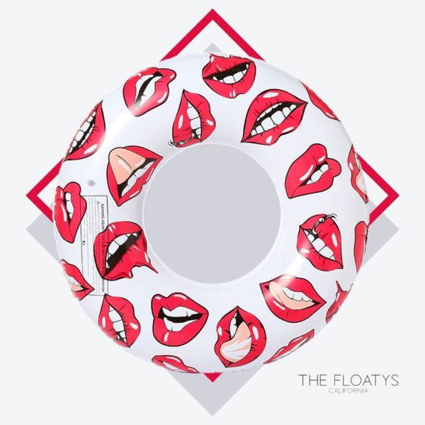 Graphic Lips Print Ring Float 1