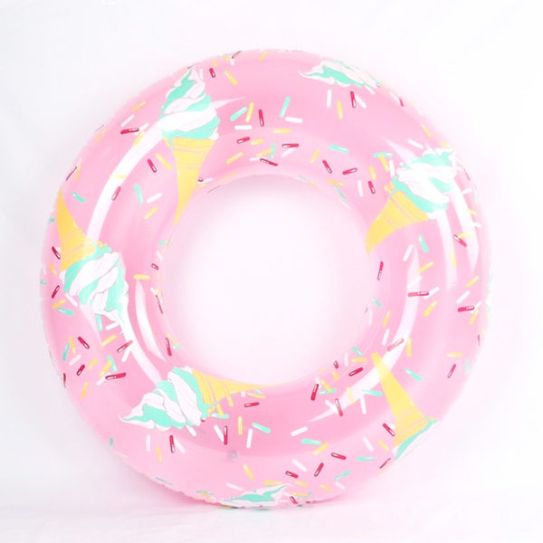 Pastel Pink Ice Cream Sprinkles Ring Float 2