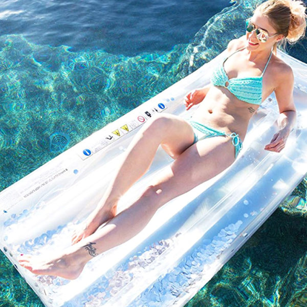 Silver Glitter Float Lounger 2