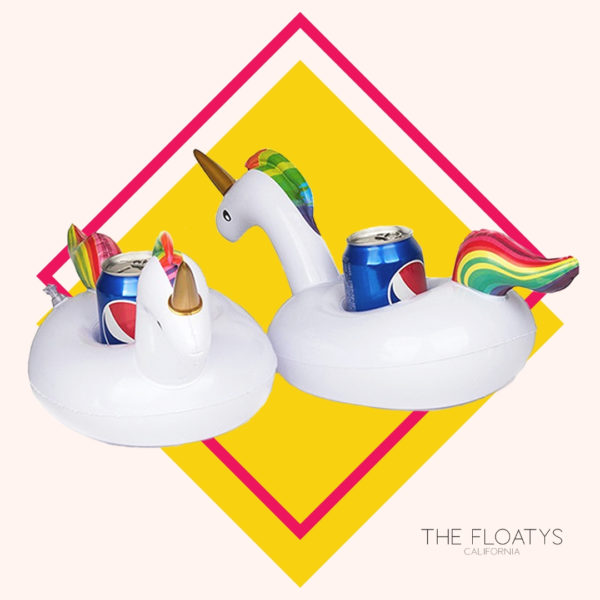 Inflatable Unicorn Drink Holders (2-Pack) 1