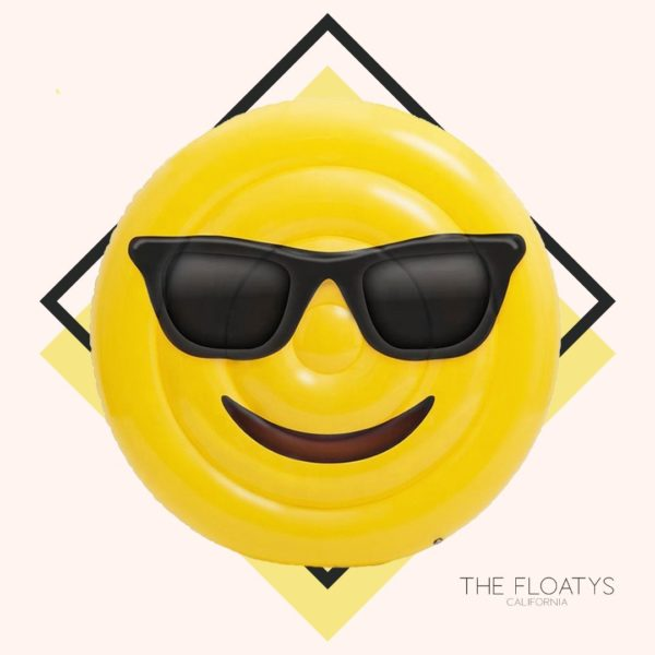 Sunglasses Emoji Pool Float Lounger 1