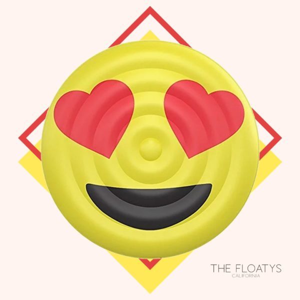 Heart Eyes Emoji Pool Float Lounger 1