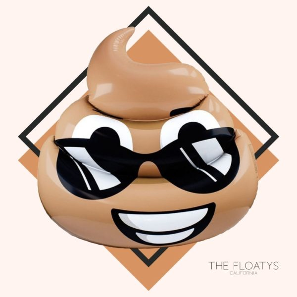 Giant Sunglasses Poop Emoji Pool Float Lounger 1