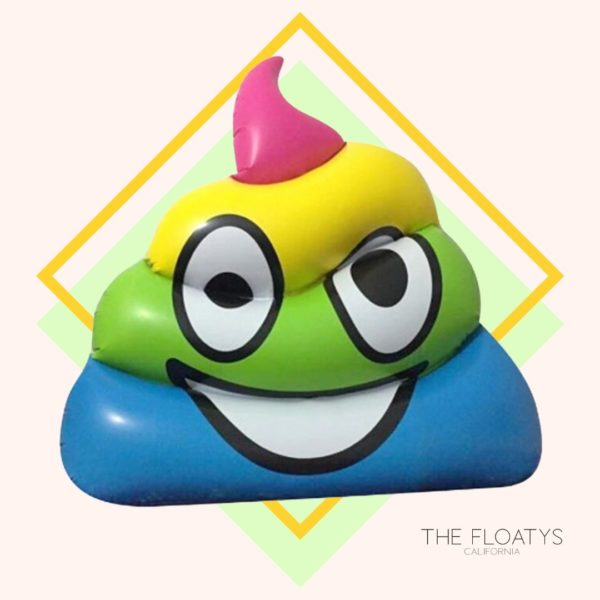 Giant Rainbow Poop Emoji Pool Float Lounger 1