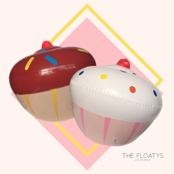 Inflatable Cupcake Pool Floats (2-Pack) 1
