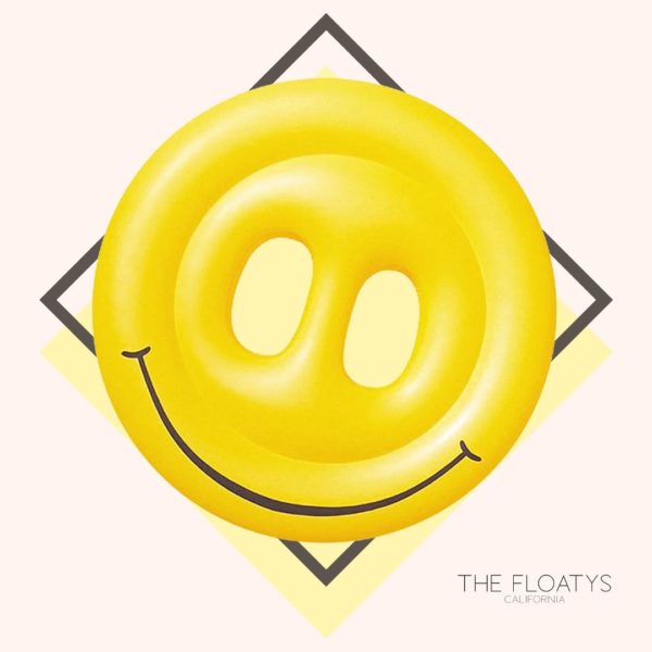 Giant Smiley Face Emoji Pool Float Lounger 1