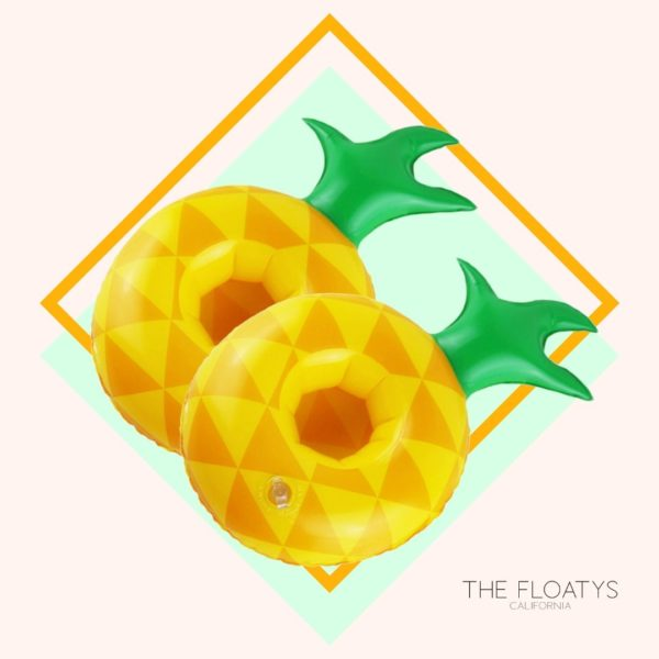 Inflatable Pineapple Drink Holders (2-Pack) 1