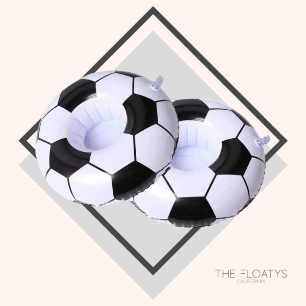 Inflatable Soccer Ball Drink Holders (2-Pack) 1
