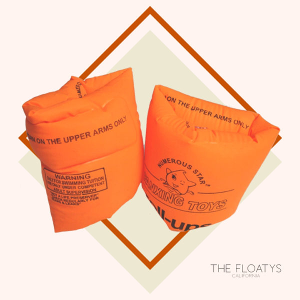 Kids Orange Arm Floaties 1