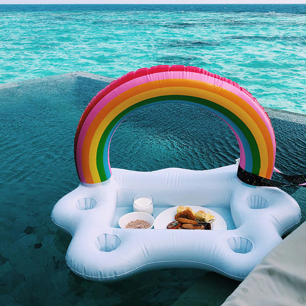 Big Rainbow Cloud Drink Holder Float 2