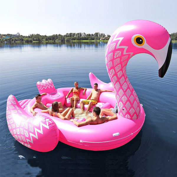Giant Flamingo Inflatable Island Raft 2