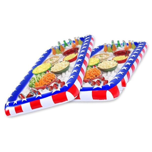 Giant Inflatable American Flag Salad and Drink Bar Cooler 2