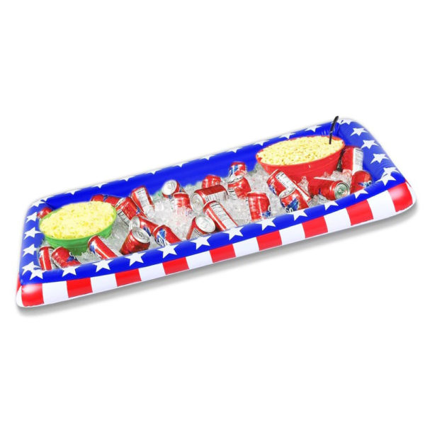 Giant Inflatable American Flag Salad and Drink Bar Cooler 1