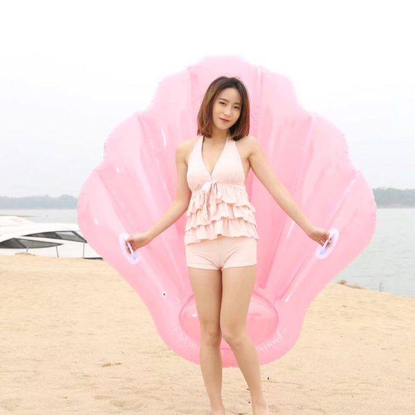 Giant Pearly Pink Shell Float Lounger 2