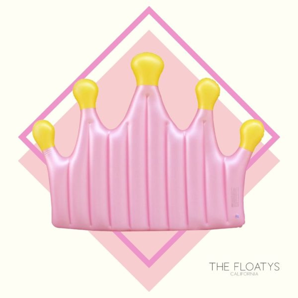 Giant Pink Crown Float Lounger 1