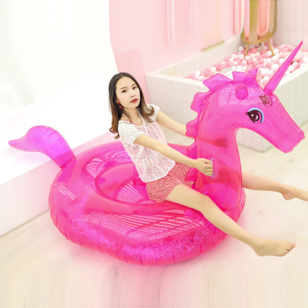 Giant Pink Glitter Unicorn Float 2