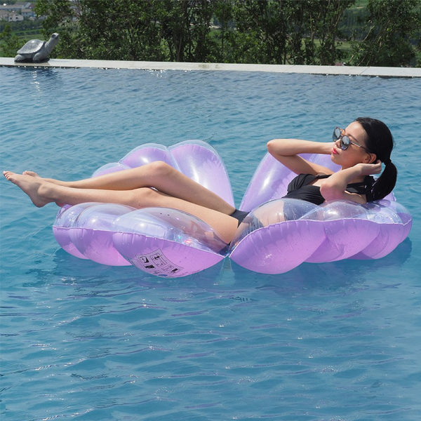 Giant Purple Glitter Shell Wings Float Lounger 2