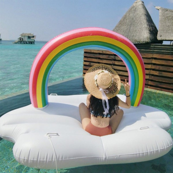 Giant Rainbow Cloud Float Lounger 2