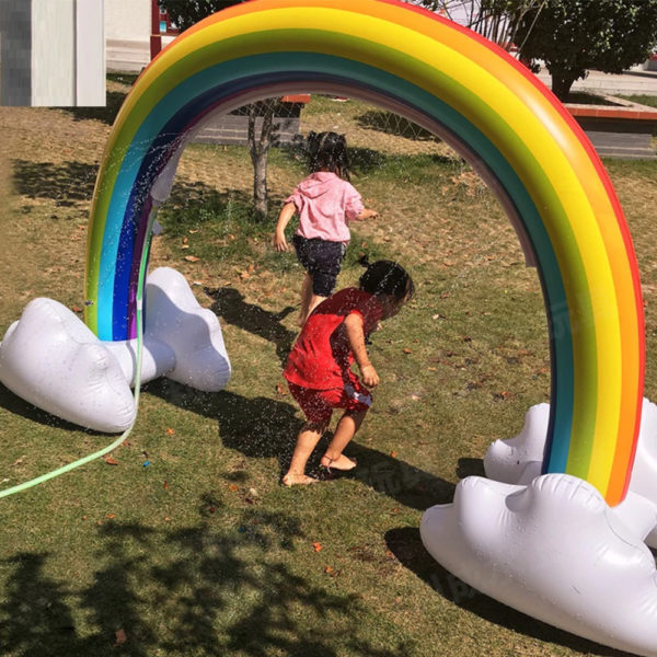 Giant Inflatable Rainbow Cloud Sprinkler 2