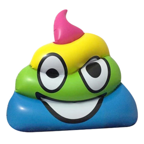 Giant Rainbow Poop Emoji Pool Float Lounger 2