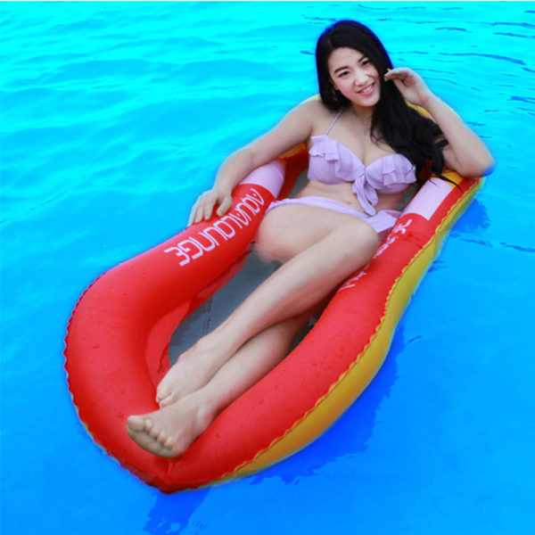 Giant Red Mesh Float Lounger 1