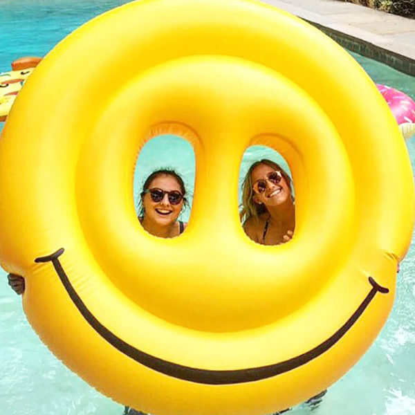 Giant Smiley Face Emoji Pool Float Lounger 2