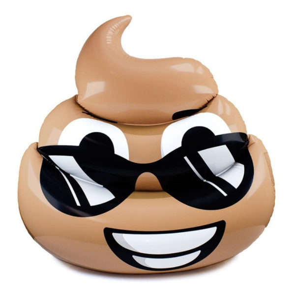 Giant Sunglasses Poop Emoji Pool Float Lounger 2