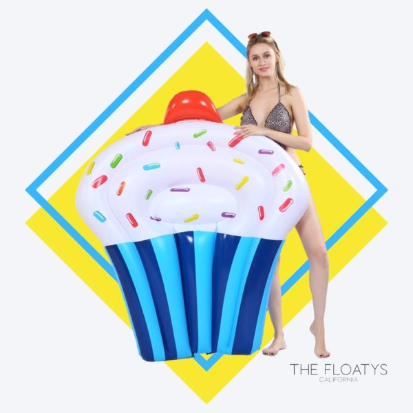 Giant Vanilla Cupcake Float Lounger (Blue) 1