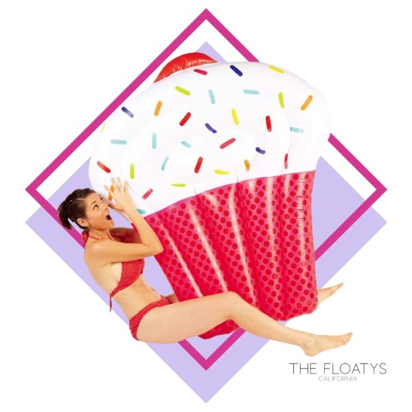 Giant Vanilla Cupcake Float Lounger (Pink) 1