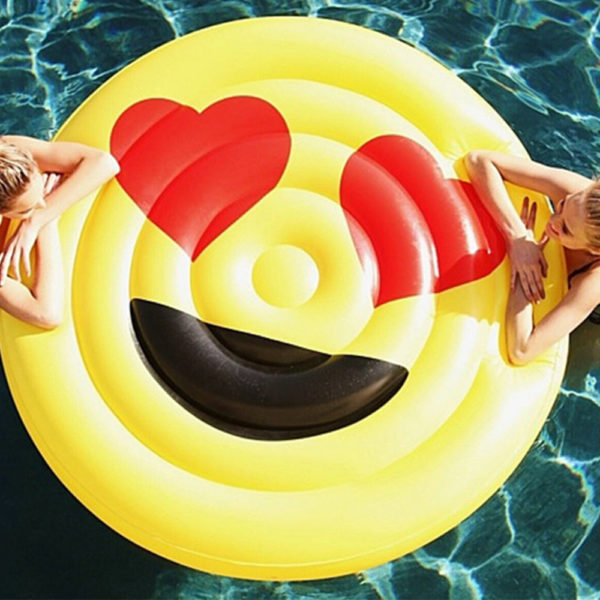 Heart Eyes Emoji Pool Float Lounger 2