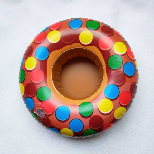 Inflatable Candy Colored Donut Drink Holders (2-Pack) 2