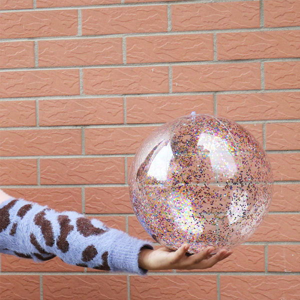 Inflatable Glitter Beach Balls (3-Pack) 1