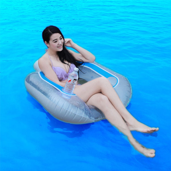 Inflatable Pool Float with Drink Holder 1