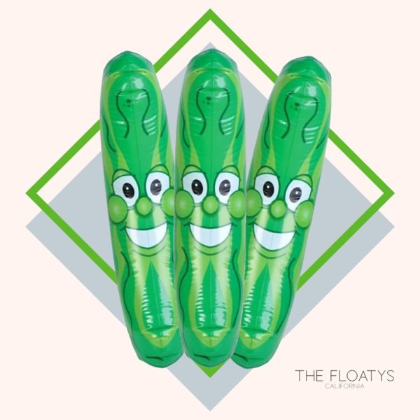 Giant Inflatable Pickle Pool Noodles (3-Pack) 1