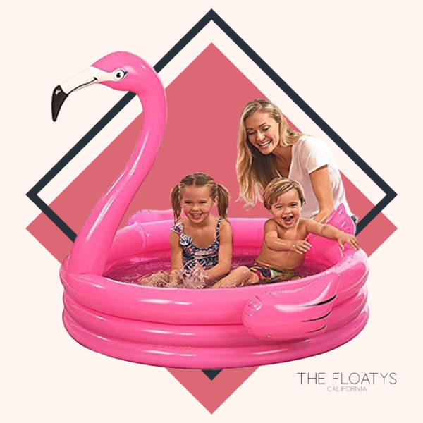 Giant Flamingo Kiddie Pool 1