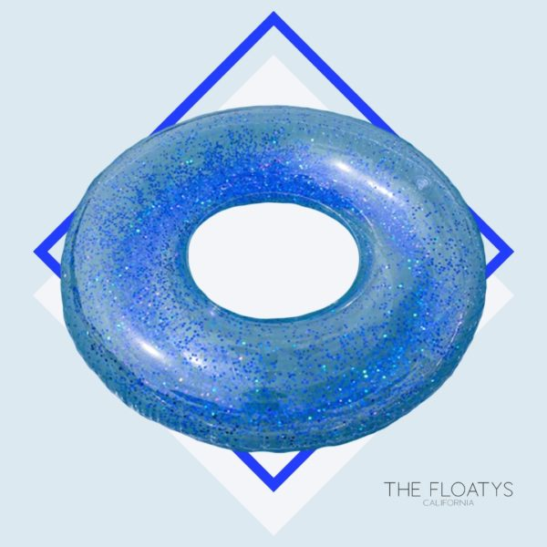 Blue Glitter Ring Float 1