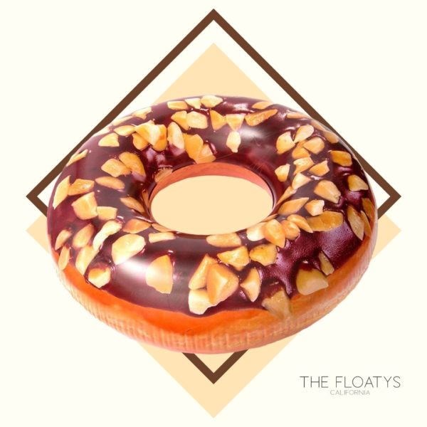 Chocolate Peanut Donut Ring Float 1