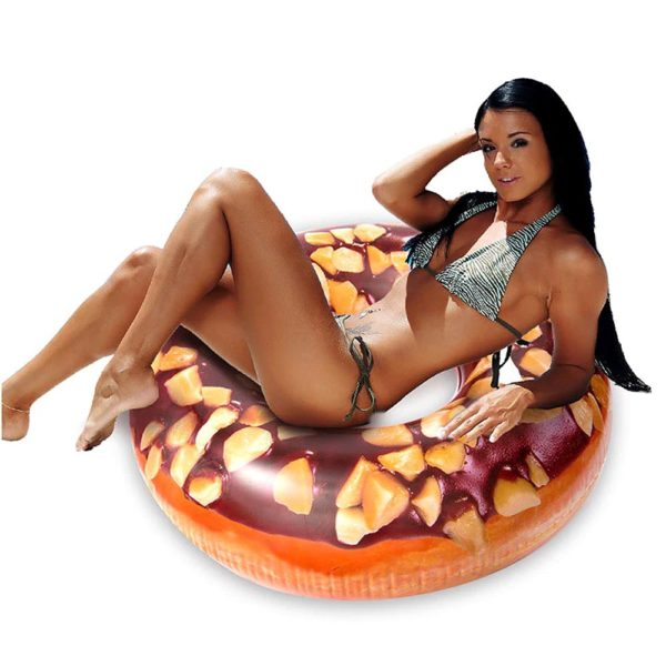 Chocolate Peanut Donut Ring Float 2