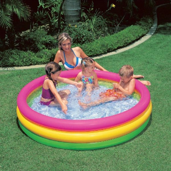 Giant Round Rainbow Kiddie Pool 2