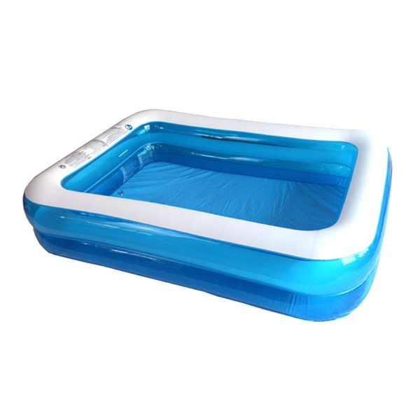 Giant Transparent Blue Inflatable Pool 1
