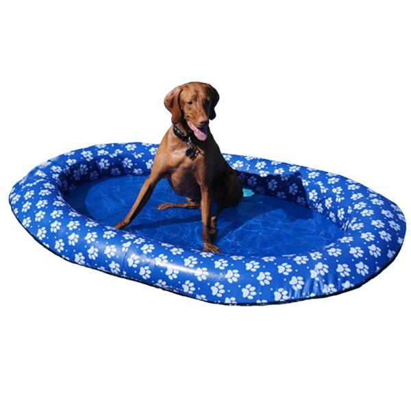 Inflatable Dog Pool Mattress (Blue) 2